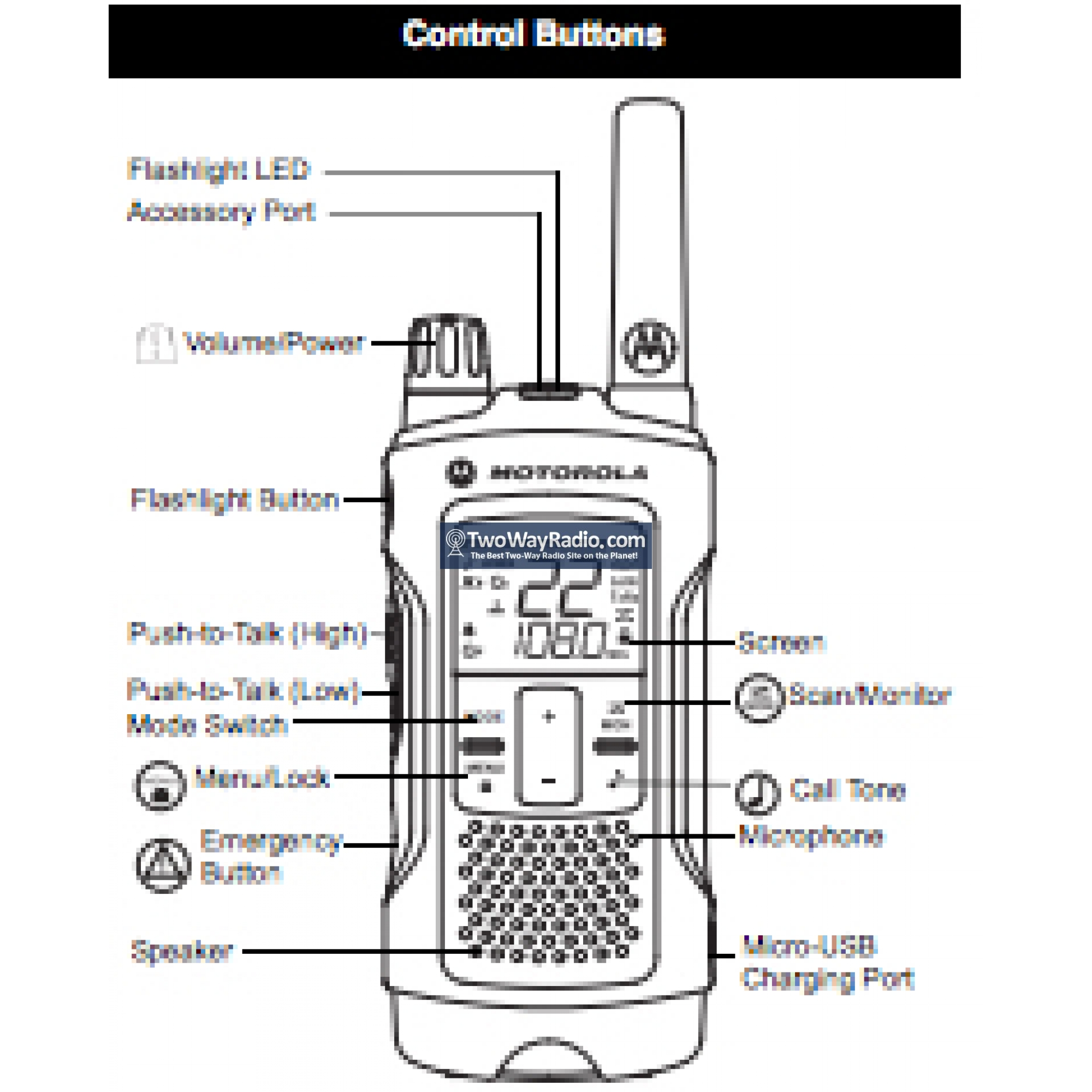 Buy Here | Motorola Talkabout™ T480 GMRS Two-Way Radio - E